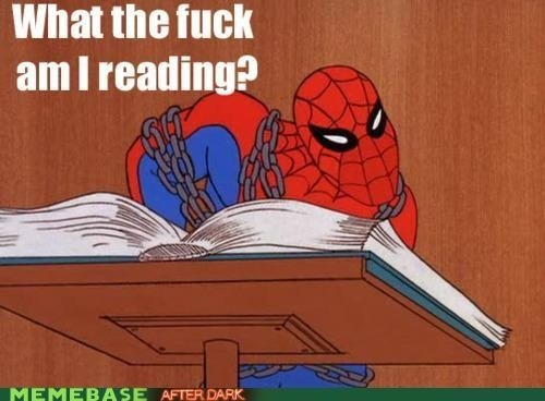 wtf reading - spider-man meme