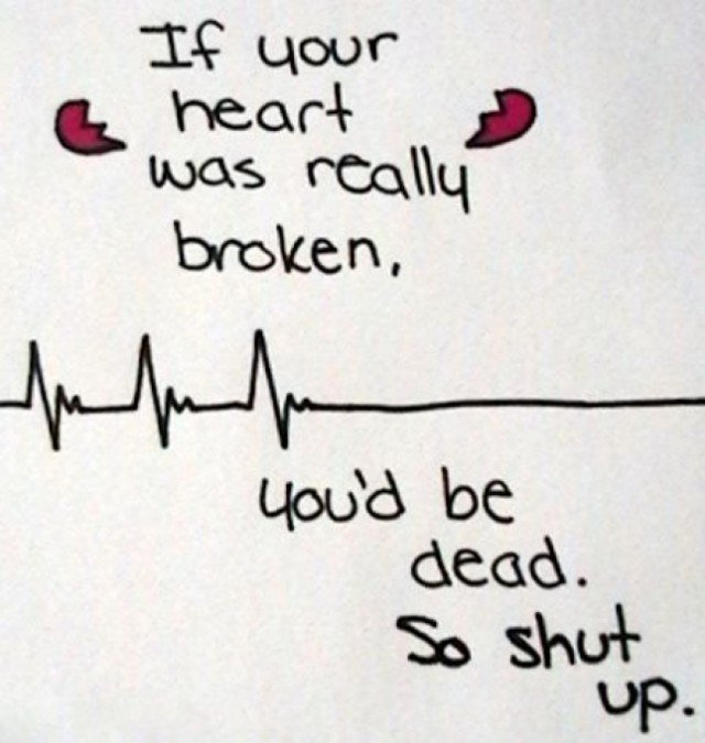 your heart really broken