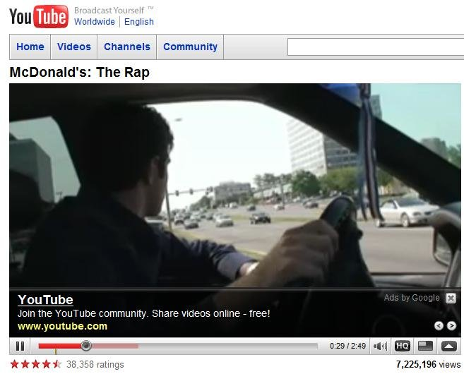 youtube - when google ads goes retarded